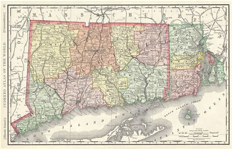 map of ri and ct rhode island connecticut geographicus antique maps