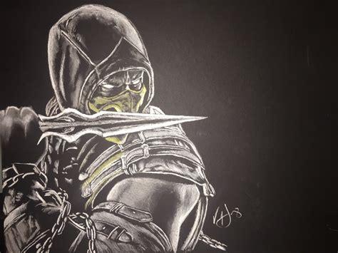 Mortal Kombat X Sketches by Mortal Kombat X Scorpion By Unyieldingvern On Deviantart
