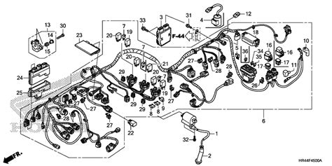 honda foreman 500 parts diagram 2007 honda foreman 500 wiring diagram 37 wiring diagram