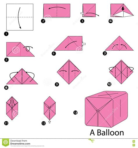 Origami Ballon - step by step how to make origami a balloon
