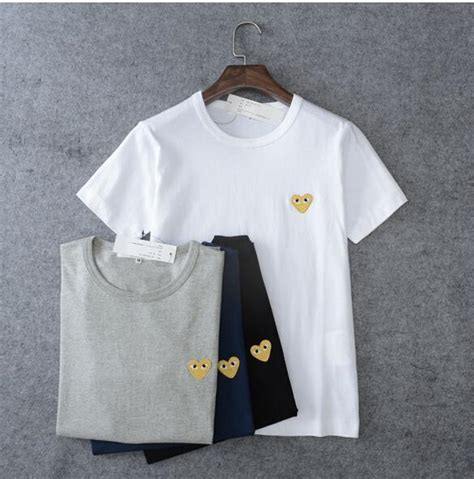 Cdg Play T Shirt unisex japan style cdg shirt play comme des garcons gold t shirts ebay