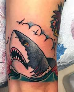 70 traditional shark tattoo designs for men old ideas