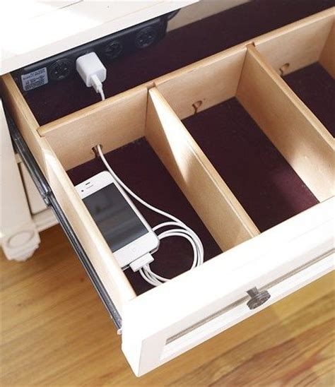 charging station organizer diy remodelaholic get rid of cord clutter with these 25 diy