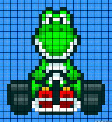 pattern unlock pixel 2 mario kart yoshi perler bead pattern maybe also used