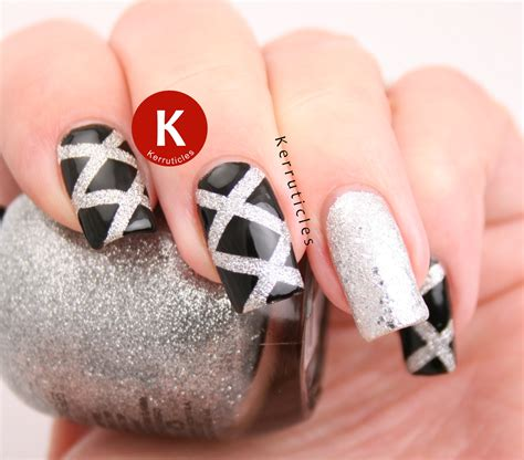 new year nail wraps black and silver laser nails new year kerruticles