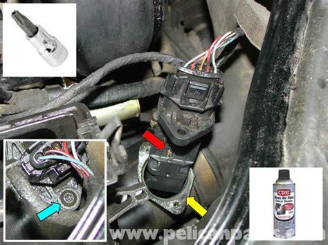 porsche boxster mass air flow sensor maf replacement and