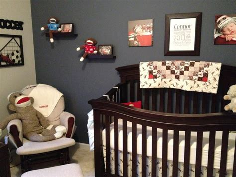 monkey room connor s soccer and sock monkey room project nursery