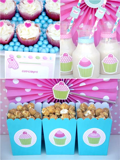 cupcake themed decorations a sweet pink cupcake baking birthday