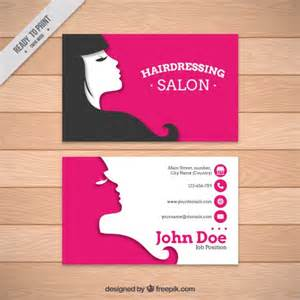 hairdressing salon card template vector premium