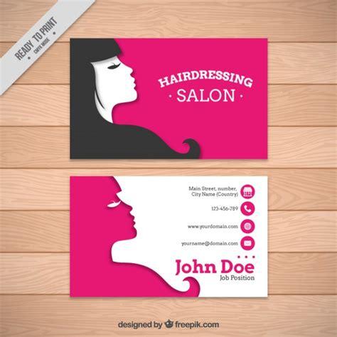 Hair Dresser Salon by Hairdressing Salon Card Template Vector Premium