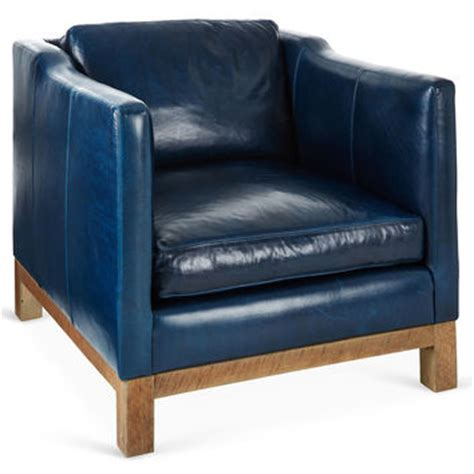 navy leather club chair best navy club chair products on wanelo