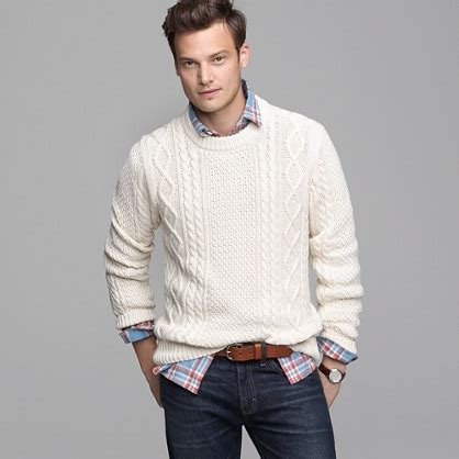 white knit sweater mens cotton cable sweater sweaters j crew