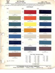 gm color paint chips 1957 chevy truck