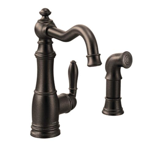 moen kitchen faucet rubbed bronze moen brantford single handle pull sprayer kitchen