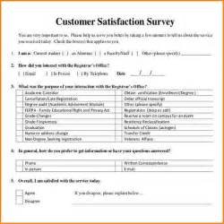 Customer Satisfaction Letter Template 6 Customer Satisfaction Survey Template Worker Resume