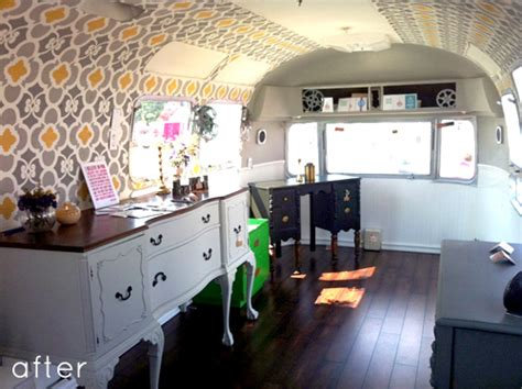 trailer for after before after airstream trailer makeover design sponge