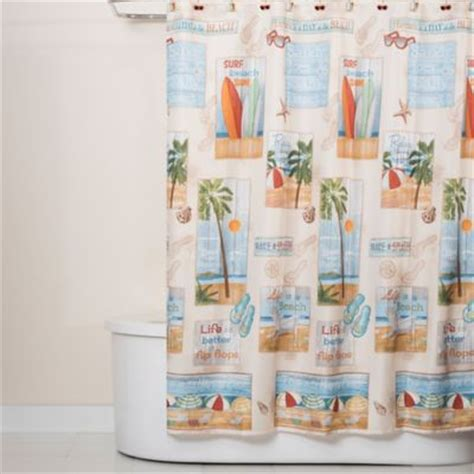 shower curtain beach theme buy beach bathroom shower curtains from bed bath beyond