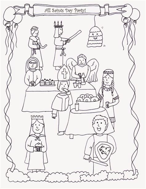 All Saints Day Coloring Pages drawn2bcreative all saints day coloring page