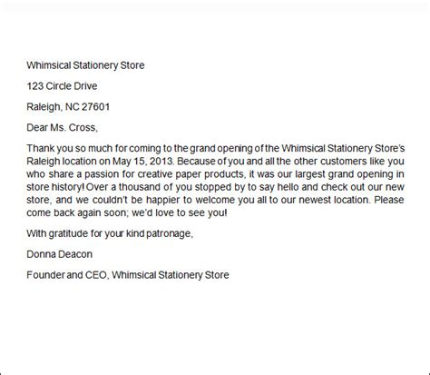 thank you letter business to customer 6 business thank you letters