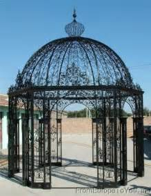 Cast Iron Pergola by Large Victorian Style Cast Iron Garden Gazebo 14