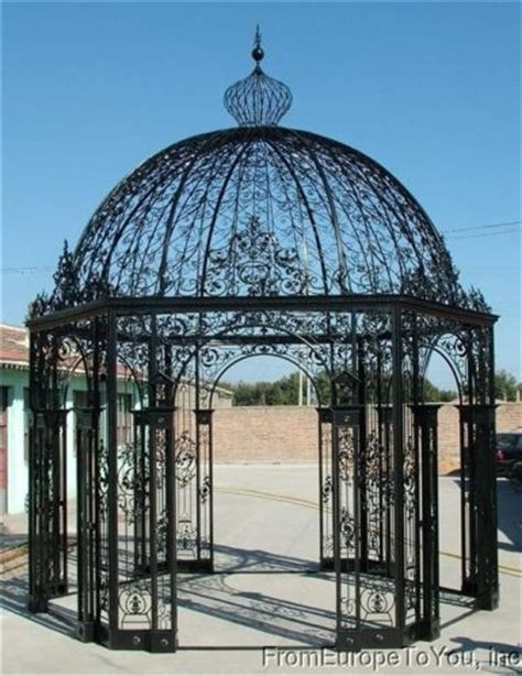 Iron Gazebo Large Style Cast Iron Garden Gazebo 14
