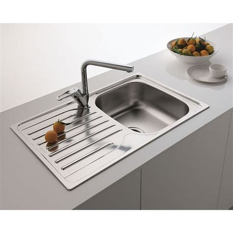 Square Kitchen Sink With Drainer Franke Single 1 0 Bowl Drainer Waste Stainless Steel Square Kitchen Sink Inset Galaxy Bath Ltd