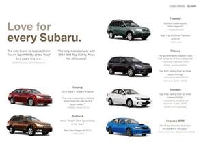 Subaru Cars Models 2011 Subaru Line Digital Brochure