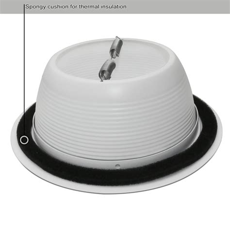 6 can light trim 4 pack 6 inch recessed can light trim with white metal