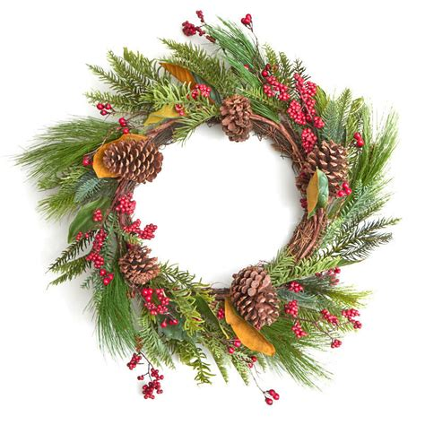 artificial pine and berry twig wreath wreaths floral