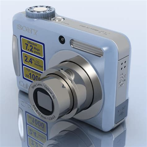 Kamera Sony Dsc S700 3d model sony cybershot dsc s700