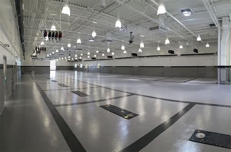 poured flooring  car dealerships auto repair shops