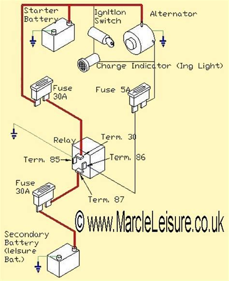 split charge wiring diagram efcaviation