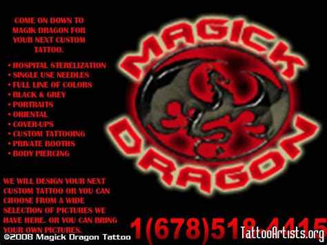 magick dragon tattoo magik artists org