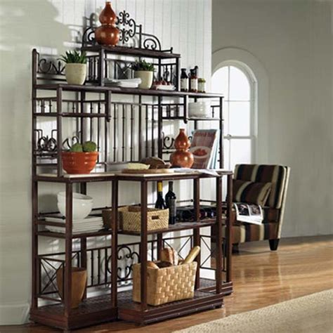 kitchen bakers rack cabinets french large bakers rack bago luma traditional baker
