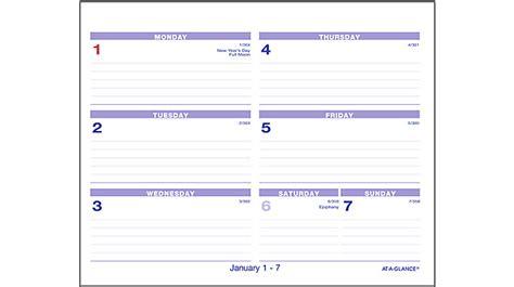 at a glance flip a week desk calendar and base flip a week desk calendar and base sw700x at a glance