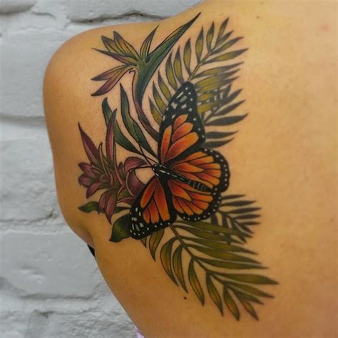 neo trad butterfly tattoo lonelydreamertattoo bird of paradise neo traditional