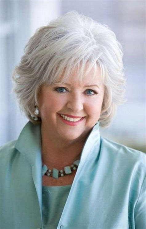 hairstyles for women over 60 with thick slightly curly hair short hairstyle for mature women over 60 from paula deen