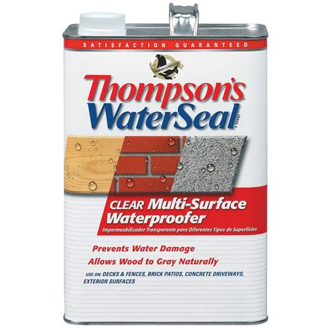 thompson water seal colors thompson s waterseal 1 gal clear multi surface