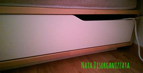 cassetti sotto letto nata disorganizzata come organizzare un letto con i cassetti