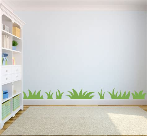 Childrens Bedroom Wall Decor Grass Wall Decal Nature Wall For Bedroom Set Of 7 Grass Patches Playroom Decor