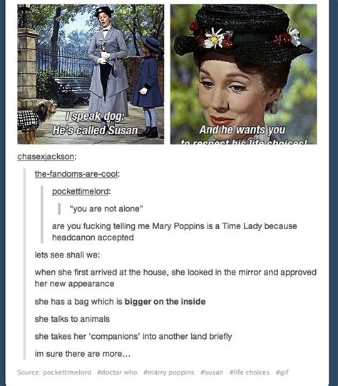 mary poppins she wrote 1476762929 this is just too perfect geek all the way