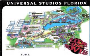 park map universal studios florida 1998 the dod3
