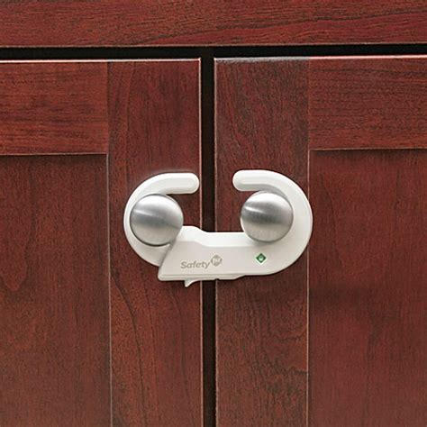Safety 1st 174 Grip N Go Cabinet Locks Set Of 2 Child Safety Locks For Kitchen Cabinets