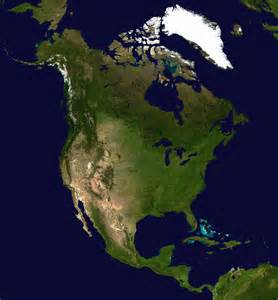 large detailed satellite map of america