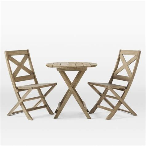 Folding Bistro Table And Chairs Set Jardine Folding Bistro Dining Set Table 2 Chairs West Elm