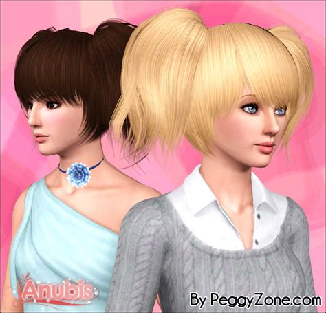pigtails hair sims 4 double pigtails peggy s 551 hairstyle reetxtured by anubis