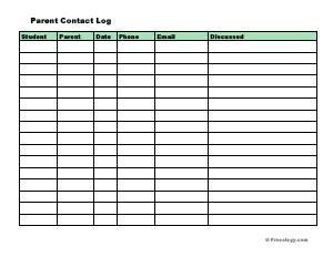 Parent Contact Form Template by Parent Contact Form Freeology