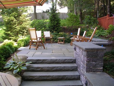 stone for backyard backyard stone patio traditional patio boston by