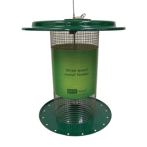 3 Bird Feeder shop birds choice sunflower steel 3 quart bird feeder at lowes