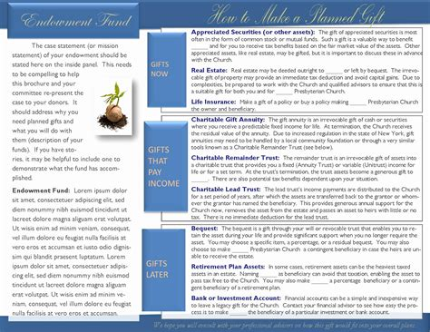 planned giving brochures templates 56 new planned giving brochures templates